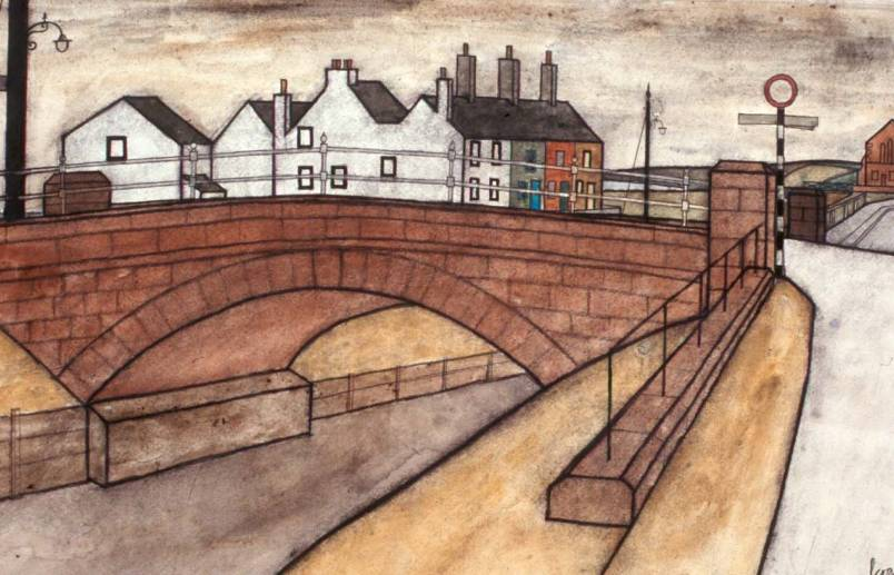 The bridge at Allonby  Percy Kelly 1970