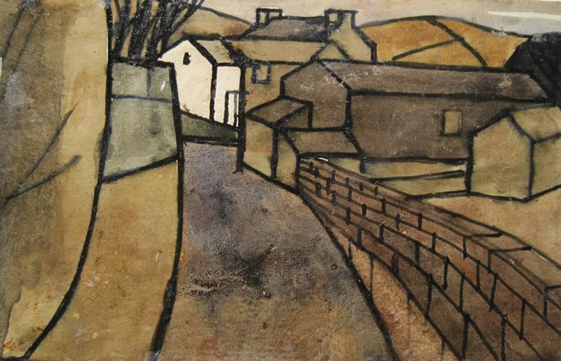 White Barn by Percy Kelly
