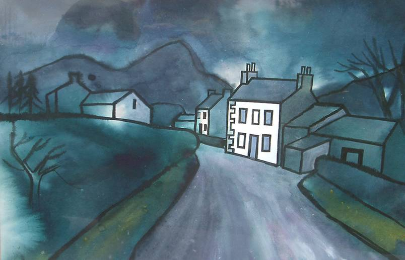 White Cottage by Percy Kelly